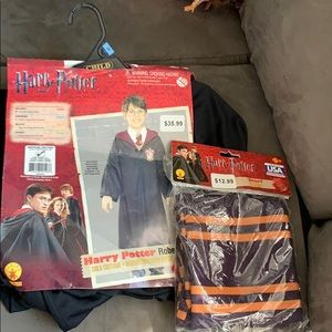 Harry Potter hooded robe, clasp, and scarf set